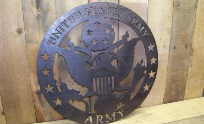 U.S. Military Metal Cut Sign