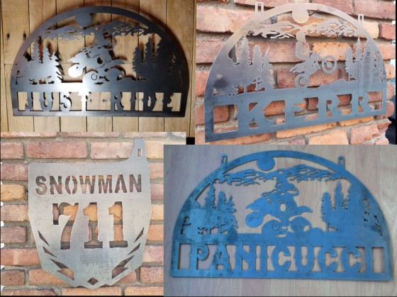 Metal Cut Motocross Signs