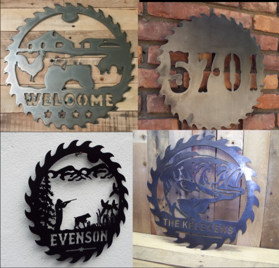 Metal Saw Blade Signs