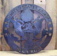 Army Metal Plaque