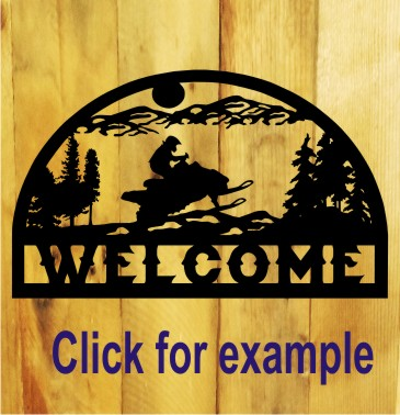 Snowmobile Metal Sign gift