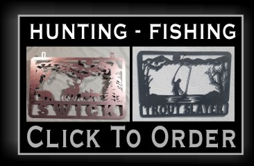 Metal Fishing Sign nj
