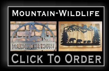 Metal Log Cabin Signs NJ