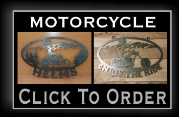 Metal Motorcycle Signs NJ
